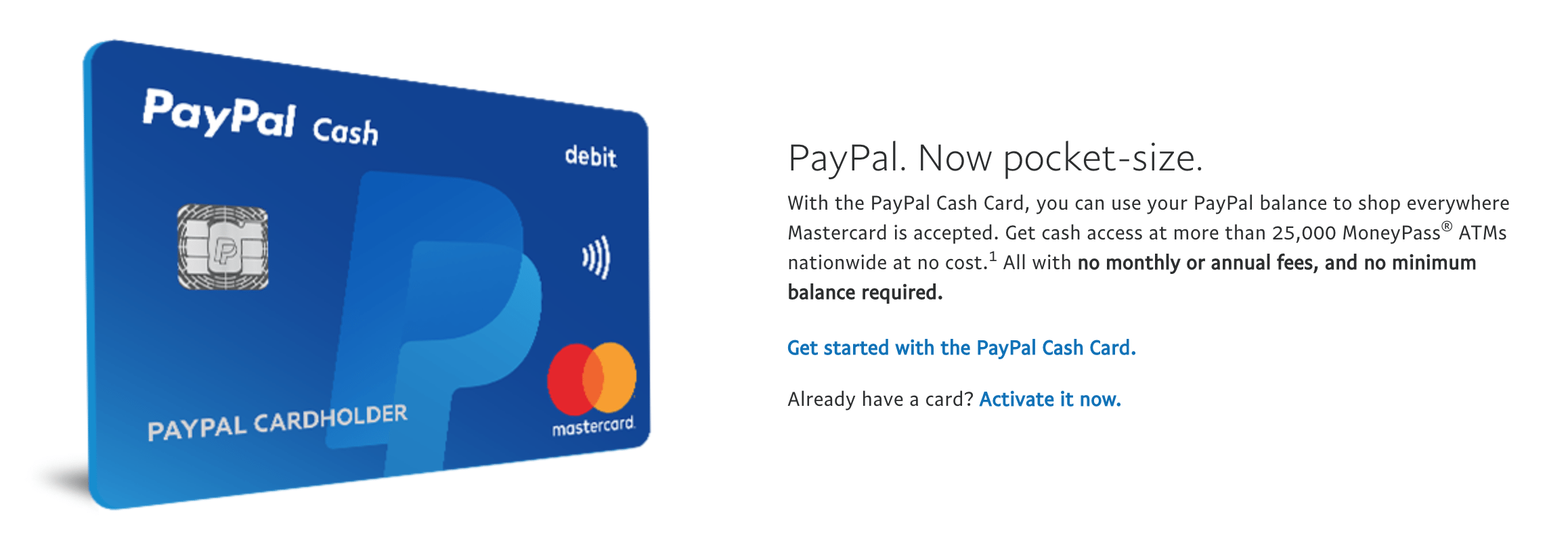 Paypal releases new debit card with no monthly fees doctor of credit hat tip to reader pr magicingreecefo Images