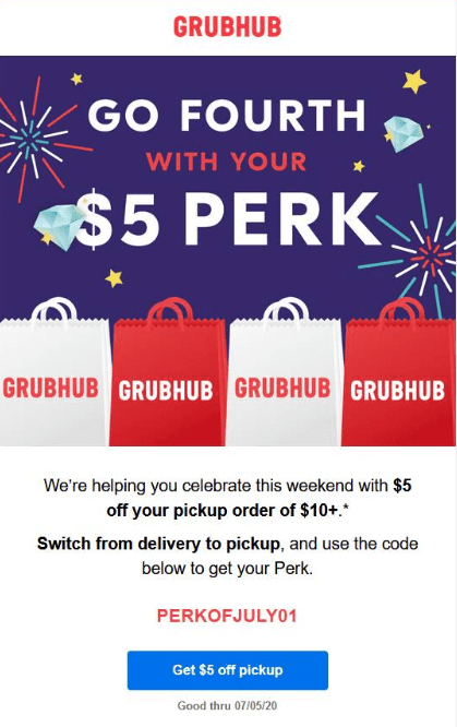 Expired Grubhub 5 Off 10 With Promo Code Perkofjuly01 Doctor Of Credit